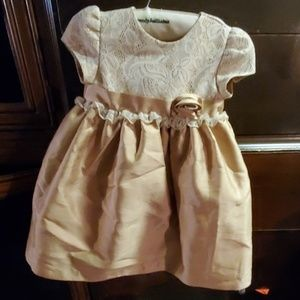 Gold dress with lace